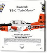 T-34c Turbo Mentor Vt-6 Acrylic Print