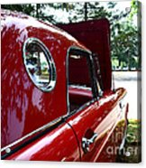Vintage Car - Opera Window T-bird - Luther Fine Art Acrylic Print