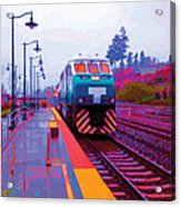 T Is For Train Acrylic Print