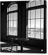 Table And Chair And The Windows Acrylic Print