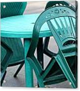 Table And Chairs. Acrylic Print