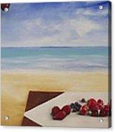 Table At The Beach Acrylic Print
