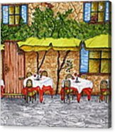 Table For Three Acrylic Print