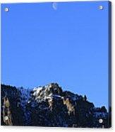 Table Mountain And Moon   #0562 Acrylic Print
