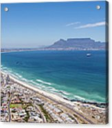 Table Mountain Lies In The Distance Of Acrylic Print