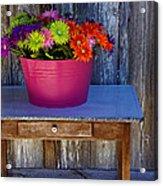 Table Top Flowers Acrylic Print