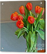 Table Top Tulips Acrylic Print