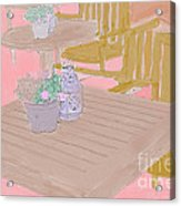 Tables And Chairs Acrylic Print
