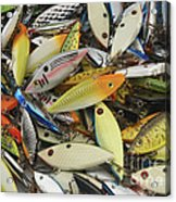 Tackle Box Tangle Acrylic Print by Jerry McElroy