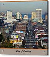 Tacoma City Of Destiny Acrylic Print