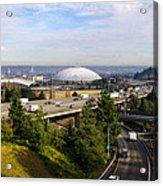 Tacoma Dome And Auto Museum Acrylic Print