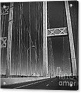 Tacoma Narrows Bridge B W Acrylic Print