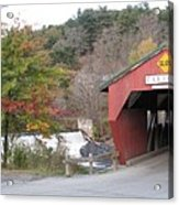 Taftsville Covered Bridge Vermont Acrylic Print