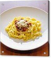 Tagliatelle Bolognese Sauce With Parmesan Acrylic Print
