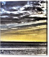 Big Clouds Over Tagus River Acrylic Print