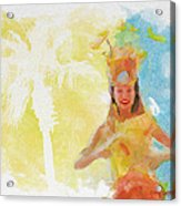 Tahitian Dancer Acrylic Print