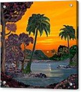 Tahitian Sunset Acrylic Print