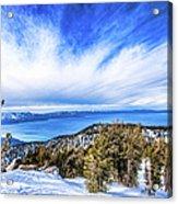 Tahoe From Heavenly Acrylic Print
