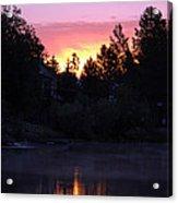 Tahoe Keys Sunrise Acrylic Print
