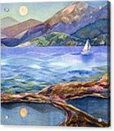 Tahoe Tides Acrylic Print by Jen Norton