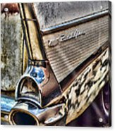 Taillight 1957 Chevy Bel Air Acrylic Print
