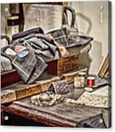 Tailors Work Bench Acrylic Print