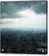 Taipei Under Heavy Clouds Acrylic Print