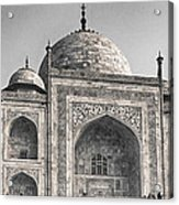 Taj Dressed In White Acrylic Print
