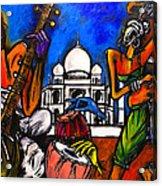 Taj Mahal Dancers Acrylic Print