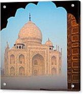 Taj Mahal Dawn Acrylic Print