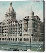 Taj Mahal Hotel, Bombay (mumbai) Acrylic Print
