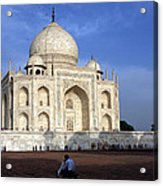 Taj Mahal Love Acrylic Print