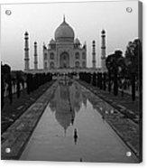 Taj Mahal Reflection Acrylic Print