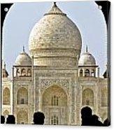 Taj Through The Gates Acrylic Print