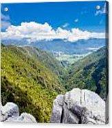 Takaka Hill Limestone Outcrops Takaka Valley In Nz Acrylic Print