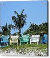Take A Seat At The Beach Acrylic Print