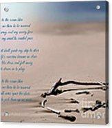 Take Me To The Ocean Blue Acrylic Print
