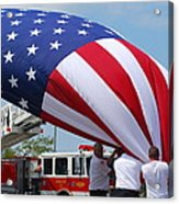 Taking Down The Flag Acrylic Print