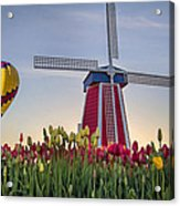 Taking Off At Tulip Field Acrylic Print