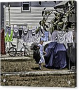 Taking Out The Garbage - Sarasota - Florida Acrylic Print