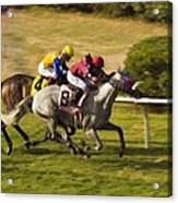Taking Over - Del Mar Horse Race Acrylic Print