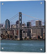 Taking The San Francisco Bay Ferry To Acrylic Print