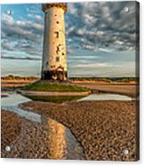 Talacre Lighthouse Sunset Acrylic Print