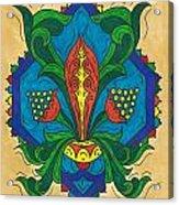 Talavera Flora Acrylic Print