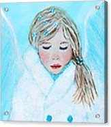 Talini Little Snow Angel Bringing Warmth On Cold Days Acrylic Print