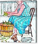 Talking To The Dog - Sitting On The Front Porch Acrylic Print by Philip Bracco