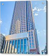 Tall Highrise Buildings In Uptown Charlotte Near Blumental Perfo Acrylic Print