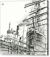Tall Ship Assist Acrylic Print