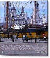 Tall Ship At Albert Dock Acrylic Print