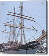 Tall Ship Elissa - Galveston Texas Acrylic Print